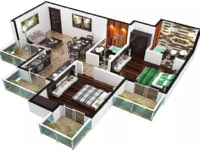 2 BHK Flat to rent, Arden - Flat
