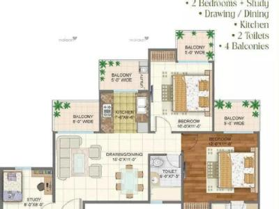2 BHK Flat to let, Arden - Flat, Gym