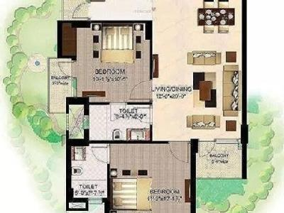 2 BHK Flat to rent, Blossom County