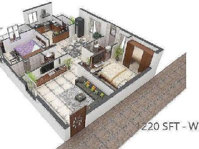 2 BHK Flat for sale, Marvel - Flat