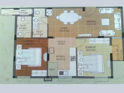 2 BHK Flat to let, Project - Security