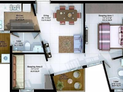 2 BHK Flat to let, Xrbia - New Build