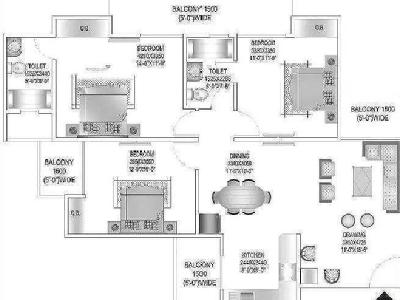3 BHK Flat to rent, Arden - New Build