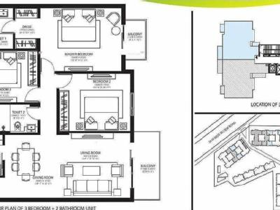 3 BHKFlat for sale, Rise - Balcony