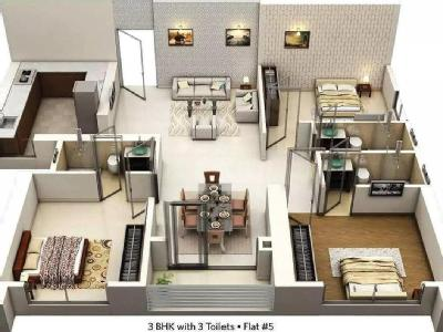 3 BHK Flat for sale, Seabrook - Lift