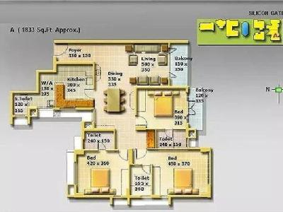 3 BHK Flat for sale, Silicon Park