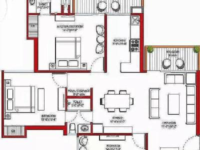 3 BHK Flat to rent, Violet