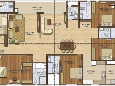4 BHK Flat for sale, Ivy League - Gym