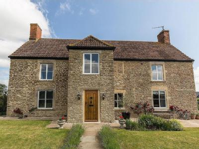 Detached farmhouse with 4,000 sq ft of accommodation and 2 acres of gardens just outside Frome