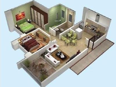 2 BHK Flat for sale, Air Castles