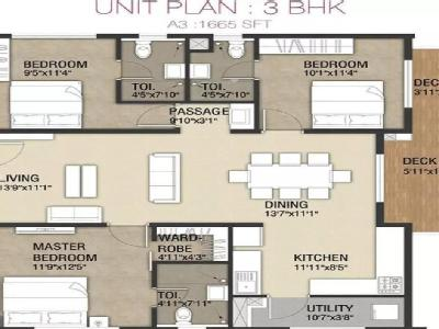 Flat for sale, One City - Gym, Lift
