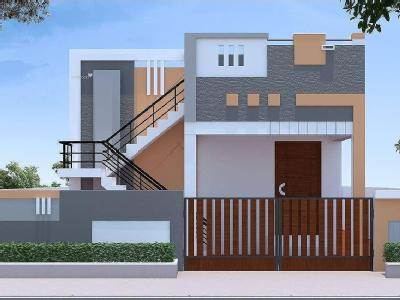 Podanur road houses villas for sale in podanur road for Indian house front elevation photos for single house