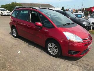 09 Citroen Grand C4 Picasso 1.6HDi 16v VTR+ 7 SEATER RED