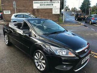 09 FORD FOCUS 2,0 TDCI CC CONVERTIBLE IN BLACK 72,000 MILES FULL SERVICE HISTORY