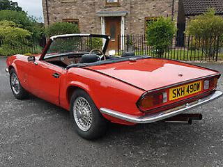 1981 Triumph Spitfire 1500, with overdrive, in excellent condition