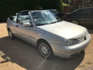 1999 Volkswagen VW Golf Cabriolet with power hood and full service history