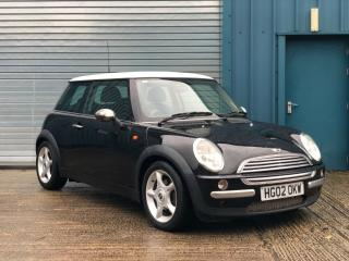 2002 Mini Copper 1.6 Petrol 115bhp 3dr, Black with White Roof & Air Conditioning