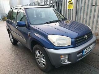 2002 Toyota RAV4 2.0 VVTi GX A/C STARTS+DRIVES SPARES OR REPAIRS EXPORT
