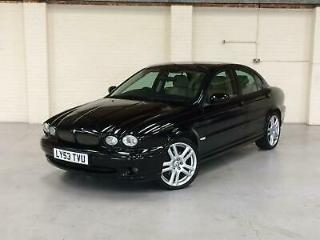 2003 53 JAGUAR X TYPE 3.0 V6 PETROL 4WD AUTOMATIC BLACK WITH CREAM LEATHER