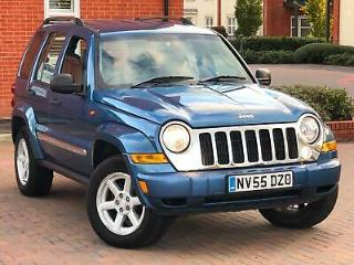2006/55 Jeep Cherokee 3.7 V6 Limited 4x4 LOW MILEAGE 2 KEYS LONG MOT CRUISE CD