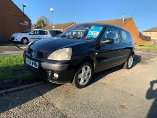 2006 55 RENAULT CLIO 1.2 16v DYNAMIQUE 76K IN BLACK PX TO CLEAR MOT FEB 2020