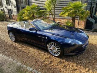 2006 ASTON MARTIN DB9 VOLANTE DARK BLUE / LINEN 87k MLS FSH 2 OWNERS FROM NEW