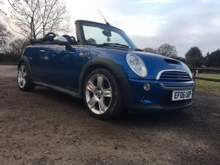 2006 MINI COOPER S CONVERTIBLE 1.6 SUPERCHARGED BLUE LADY OWNER MUST BE SEEN