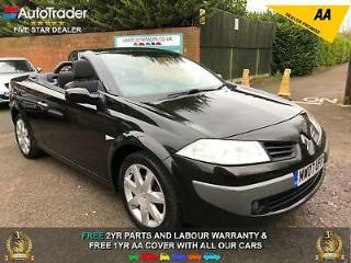 2007 07 RENAULT MEGANE 1.6 DYNAMIQUE CONVERTIBLE LOW MILEAGE £2000 OF EXTRAS