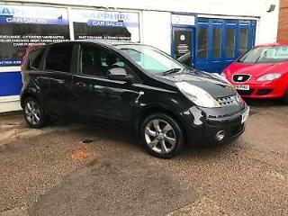 2007 57 NISSAN NOTE 1.4 ACENTA R. BLACK, SERVICE HISTORY, GOOD MILEAGE