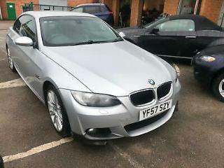2007 BMW 320 2.0 i M Sport CONVERTIBLE SILVER FULL LEATHER SPORTS SEATS