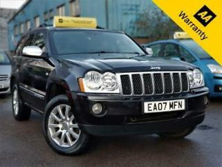 2007 JEEP GRAND CHEROKEE 3.0 V6 OVERLAND 215BHP+AUTO+SAT NAV+DVD PLAYER+SUNROOF!