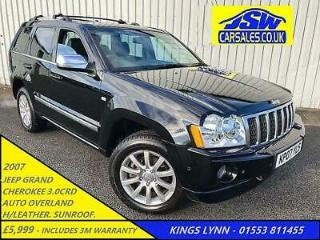 2007 Jeep Grand Cherokee 3.0CRD AUTO Overland S/History. H/Leather. Sunroof