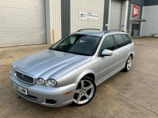 2008 08 JAGUAR X TYPE 2.2 DIESEL ESTATE, PLEATED LEATHER ! 10 SERVICE STAMPS !