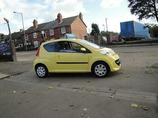 2008 08 PEUGEOT 107 1.0 LITRE URBAN AUTOMATIC 3 DOOR IN YELLOW SERVICE HISTORY