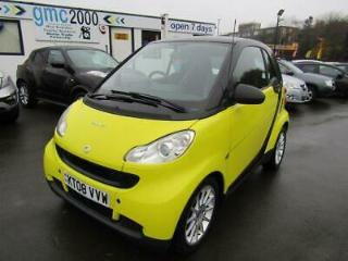 2008 08 SMART FORTWO 1.0 PASSION 2D 84 BHP