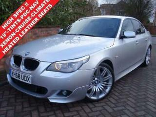 2008 58 BMW 5 SERIES 2.0 520D 175 BHP M SPORT 4DR AUTO. HIGH SPEC. FAB CONDITION