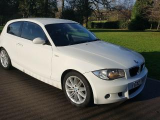 2008 BMW 120D 1 SERIES M SPORT WHITE 3 DOOR MANUAL 177 BHP DIESEL ONLY 2 OWNERS