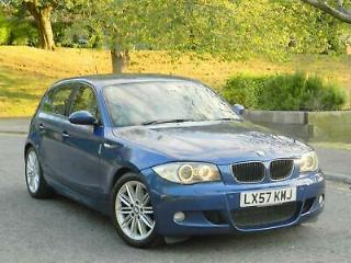 ✅ 2008 BMW 120D M SPORT AUTO 5DR IN LE MANS BLUE 89K MILES, F/S/H, HIGH SPEC!