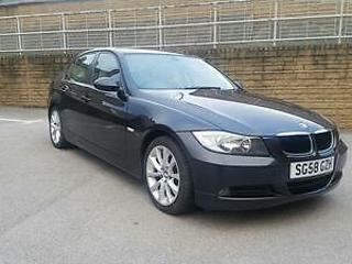 2008 BMW 318d Edition SE 4dr in black, leather interior, Parking aid, m sport