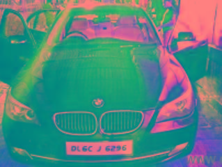 Black 2008 BMW 5 Series 525i 100000 kms driven in Sec 77