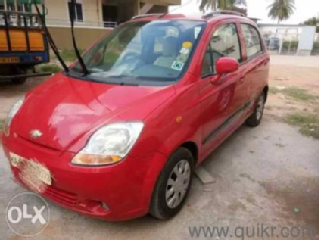 Red 2008 Chevrolet Spark LT 1.0 BS III 66000 kms driven in Gopalagowda Extension