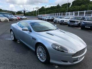 2009 59 ASTON MARTIN DB9 COUPE 6.0 V12 AUTO IN SILVER WITH DARK BLUE LEATHER