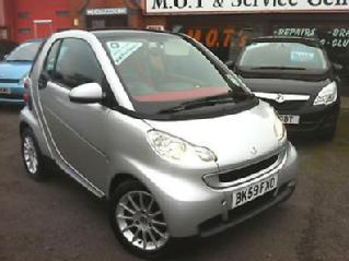 2009 59 Smart ForTwo Coupe 1.0 71bhp Passion MHD Automatic
