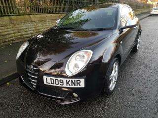2009 alfa romeo mito veloce 1.6 jtdm 120 diesel 6 speed manual black/aubergine