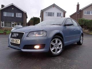 2009 AUDI A3 1.9 TDI e SPORTBACK IN PHANTOM BLACK ONLY 73,000 MILES! £30road tax