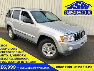2009 Jeep Grand Cherokee 3.0CRD 4X4 AUTO Limited Leather. S/History. Sunroof
