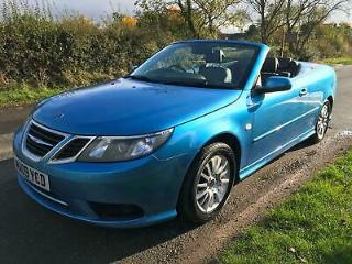 2009 Saab 9 3 1.8t Linear SE Convertible, Manual, Rare blue, Low Miles, Lovely!