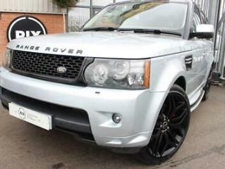 2010 10 LAND ROVER RANGE ROVER SPORT 3.6 TDV8 SPORT HSE 5D HEATED BROWN LEATHER