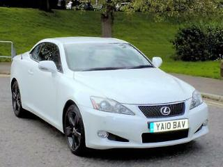 2010 10 LEXUS IS 250 2.5 SE L CONVERTIBLE AUTO PEARL WHITE WITH F/LEXUS SH