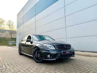2010 60 reg Mercedes Benz C63 AMG 6.3 Saloon Black + ALL BLACK SPEC
